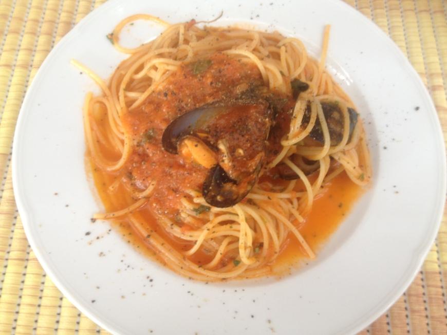 Spaghetti cozze